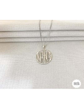 monogram letter necklace