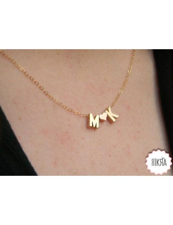 triple letter necklace