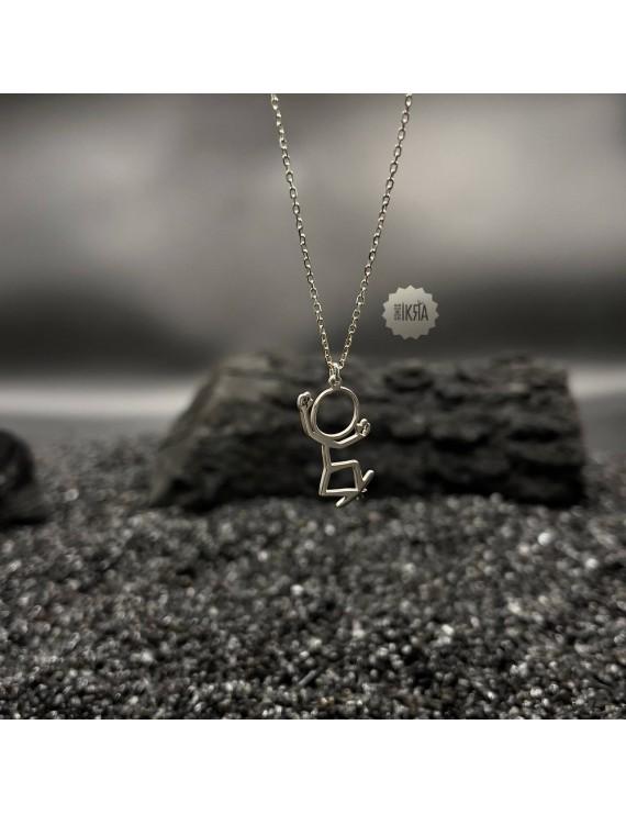 stickman necklace