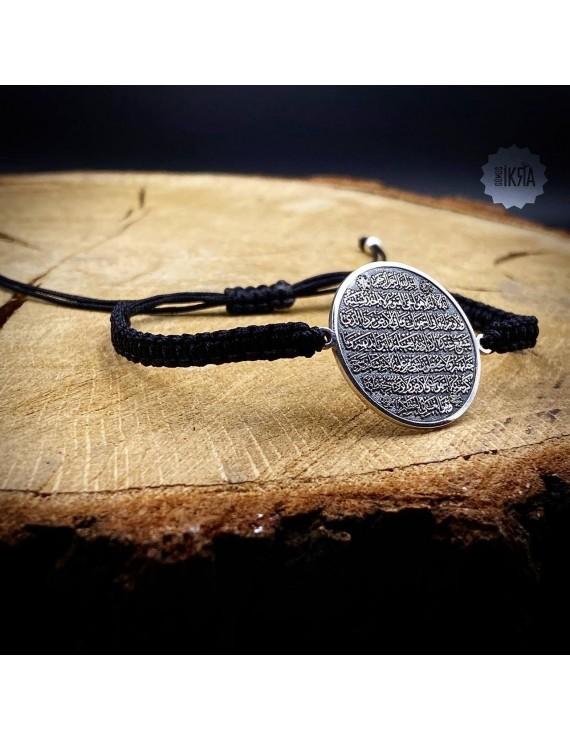 Macrome stringed Ayetel Kürsi Bracelet